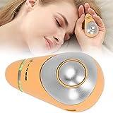 Instrumento de Ayuda para Dormir con Microcorriente 2 en 1 para Dormir con Ansiedad, Instrumento de Fisioterapia de Acupuntura para el Insomnio, Dormirse más Rápido(Amarillo)