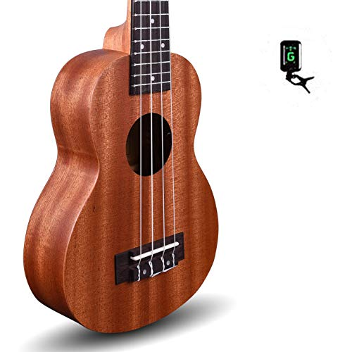 Kadence 24 inch Concert Size Ukulele Mahogany wood - Brown with Kadence