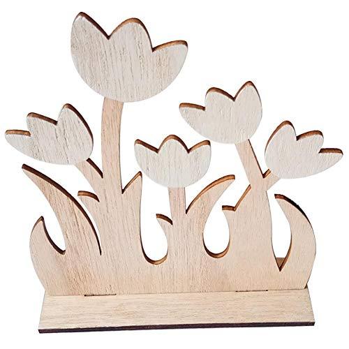 Getherad Paasdecoratie, 2020 houten Scandinavische stijl Pasen handgemaakte bloemenvorm DIY cadeau party decoratie familie fotografie rekwisieten in stijl