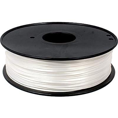 PLA Filament 1.75mm Silk White, Geeetech Silk 3D Printer Filament PLA 1.75mm for 3D Printer and 3D Pen, 1kg 1 Spool