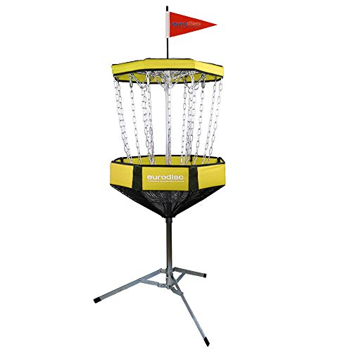 New Games - Frisbeesport Chainwalker Corbeille de Disque Golf Unisex-Adult, Jaune, Taille Unique