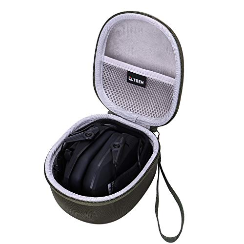 LTGEM Hard Case for Walker's Razor Slim Electronic Hearing Protection Muffs or Howard Leight Impact Sport Electronic Shooting