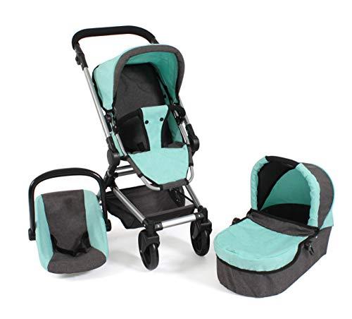 Bayer Chic 2000 645 42 wózek dla lalek Fides 3 w 1, melanż miętowy