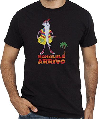 New Indastria T-Shirt MERLINO Honolulu Arrivo - by Uomo-M-Nera