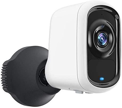 Cámara de Seguridad SDETER para Exteriores, batería WiFi 1080P AI Cámara Inteligente inalámbrica para detección de Movimiento de vehículo humanoide para Mascotas con Alarma Sonora