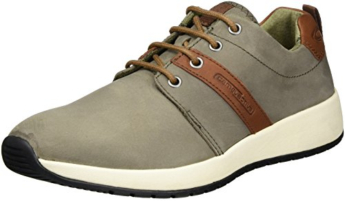 camel active Herren Jump 15 Sneakers, Grau (dk.Grey/Cigar 01), 44.5 EU