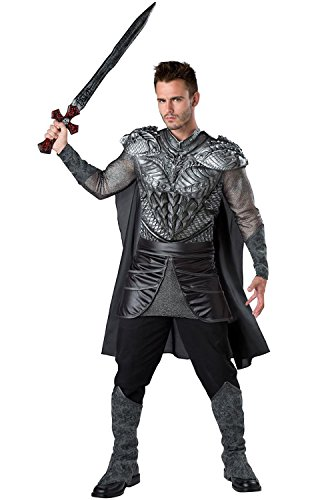 InCharacter Dark Medieval Knight Adult Costume, Large Grey