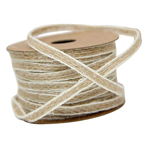 Topdo - 1 cinta de burla natural para manualidades, manualidades, Navidad, boda, evento y decoración del hogar