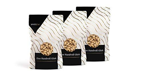 Cashewkerne bio Jalall D'or | 3 x 1 kg | natur | BIO zertifiziert | ganz | BIO CASHEWS frisch abgefüllt | wertvolle MAGNESIUM-Quelle | natürlicher TRYPTOPHAN-Lieferant | Cashewnüsse 3 kg