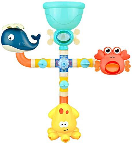 Juguetes de baño juguete de pared para baño con estación de cascada, baño de juguete, aerosol juguetes de flujo Juguetes de pared para bañera y baño para niños de 1 2 3 años de edadpara niños pequeños