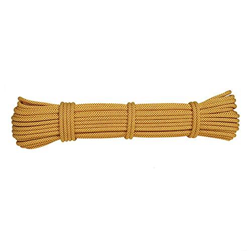 Amarillo Cuerda De Nailon Resistente Al Desgaste De 6mm, Cuerda De Rescate, Cuerda Para Tienda Al Aire Libre, Cuerda Trenzada, Cuerda De Asta De Bandera, Cuerda Para Tender La Ropa (10M-100M(Size:10m)