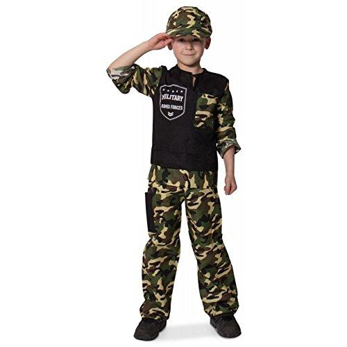 Folat B.V. Disfraz de soldado para niños, talla 116 – 134 (6 – 8 años)