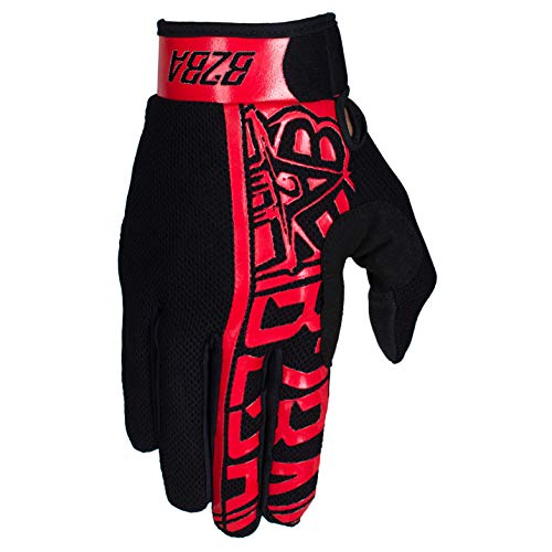 Born 2B Awesome B2BA Clothing RACEWEAR lichte handschoenen mountainbike Downhill Enduro motocross Freeride DH MX MTB BMX Quad Cross, sneldrogend, anti-slip en ademend, kleur rood zwart