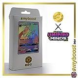 Aerodactyl-GX (Ptéra-GX) 244/236 ARC en Ciel Secrète - #myboost X Sun & Moon 11 Unified Minds - Coffret de 10 Cartes Pokémon Aglaises