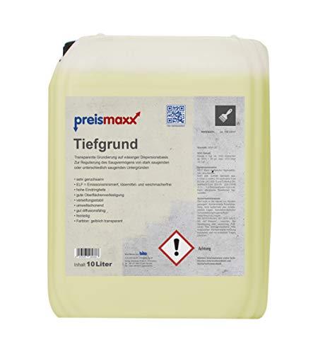 preismaxx Tiefgrund, 10 Liter, gebrauchsfertig, Universal-Grundierung für alle saugenden Untergründe innen und außen