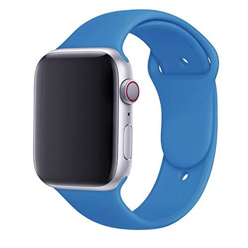Correa de silicona para Apple Watch band 44 mm 40 mm 38 mm 4 mm Correa de goma pulsera de reloj inteligente iWatch serie se 6 5 4 Correa negra Unity