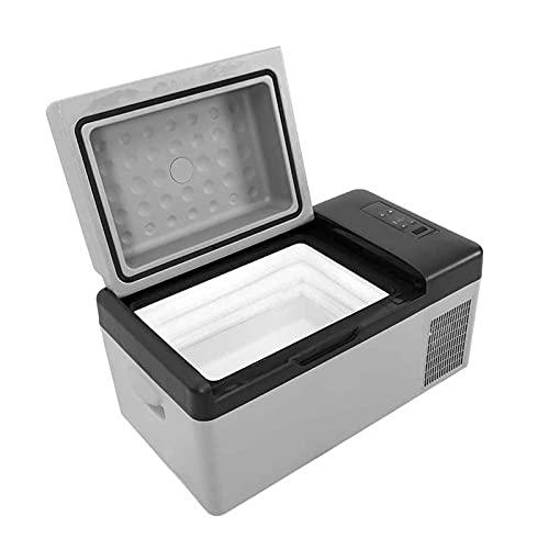 Refrigeradores portátiles para automóviles de 15 litros 12 / 24 V refrigeradores para automóviles, mini refrigeradores eléctricos para caravanas, automóviles, camiones, RV, barcos, viajes, pin