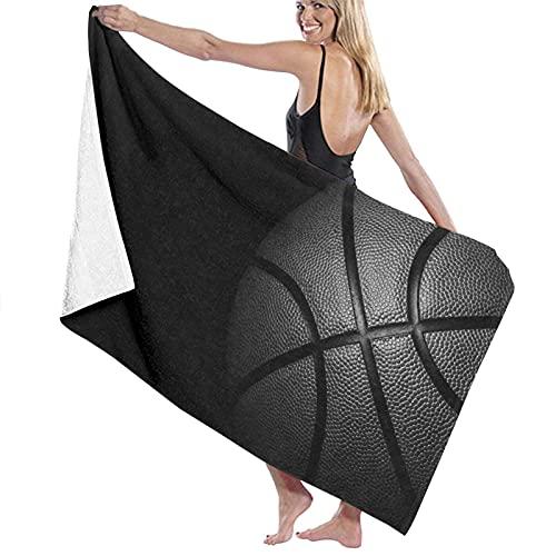 Microfibra de Gran tamaño Ultra Suave Toallas Baño Manta Secado rápido Solo Negro Baloncesto en la Playa Toalla Sábana de Viaje Piscina Camping Deportes Personalizados