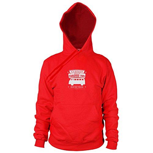 Ich Bin EIN Bulli Fahrender Papa - Herren Hooded Sweater, Größe: L, Farbe: rot