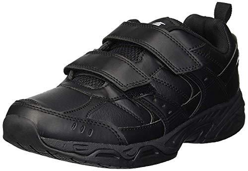 AVIA Men's Avi-Union II Strap Food Service Shoe, Jet Black/Castle Rock, 12 X-Wide