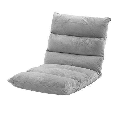 WXGY Lounger Kissen Boden Gaming Sofa Stuhl Klapppolster gepolstert Schlafsofa Couch Lazy Soft Recliner mit Rückenstütze zum Lesen von Videos