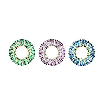 3 pairs Colored Cont-Acts for Eyes Cosplay Party Costume Halloween Daily Life Color Contacts for Eyes Cosplay  M