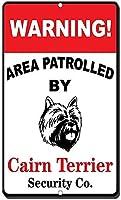 アルミ金属サインケアーンテリアパトロールされた面白い警告エリア有益なノベルティウォールアート垂直