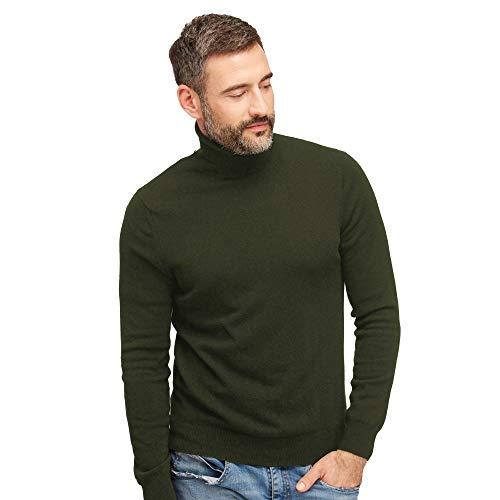 Coltrui pullovers heren 100% wol kleur groene