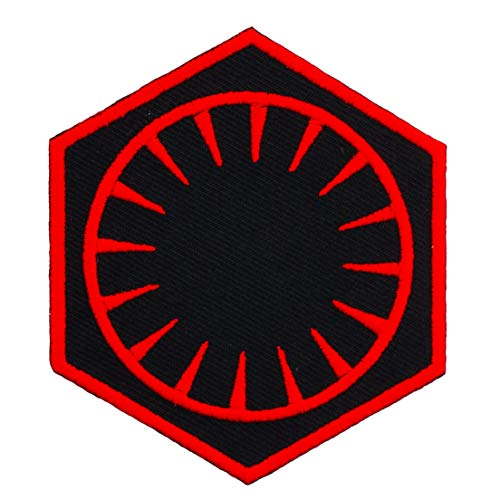 Graphic Dust First Order Embroidered Iron On Patch Jacket Jean Uniform Costume Cosplay Symbol Sign Dark Side Sith Empire Rebel Alliance Galaxy