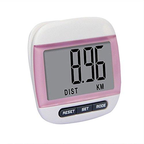 Cosanter Schrittzähler Fitness Tracker mit Kalorienzähler mit Multifunktions LCD Anzeige, Rosa