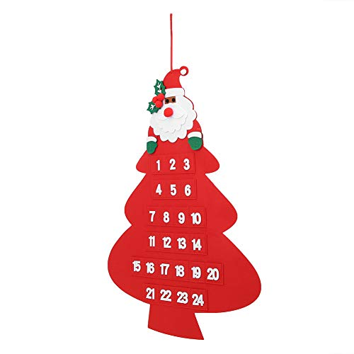 Hanging Christmas Calendar, Christmas Calendar, Sturdy Hanging Rope Felt Material Delicate for Product Counters Shop Windows(Christmas Calendar 1)