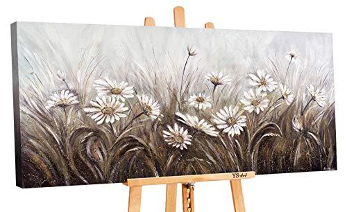 YS-Art Premium | Cuadro Acrílico Margarita | Pintado a Mano | Arte Moderno | Lienzo De Pared |...