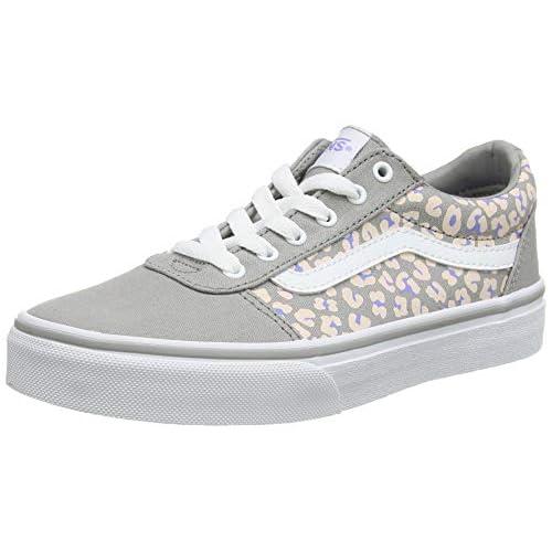 Vans Ward Canvas, Sneaker Bambini, Grigio ((Cheetah) Drizzle/White Wg5), 34 EU