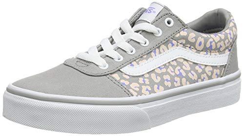 Vans Meisje Ward Platform Canvas Sneaker, Grijze Cheetah Motregen Wit Wg5, 19 EU