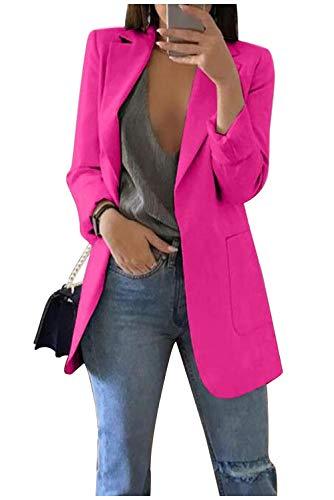 Blazer Aperto Donna Soprabito Primaverile Elegante Giacche Autunno Inverno Giubbotto Reverse Cardigan Medio Lungo Cappotto Slim Fit Giacca da Ufficio Business Giorno Capispalla Cerimonia Kimono Jacket