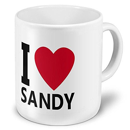 """XXL Riesen-Tasse mit Namen """"Sandy"""" - Jumbotasse mit Design"""
