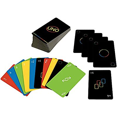 Mattel Games UNO Minimalista Card Game Featuring Designer Graphics by Warleson Oliveira, 108 Cards, Kid, Family & Adult Game Night, Unique Gift Design Lovers Ages 7 Years & Older