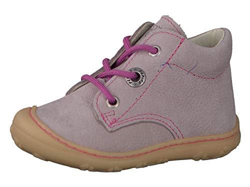 RICOSTA Pepino Mädchen Stiefel Cory, WMS: Mittel, Boots schnürstiefel Leder Kind-er Kids junior Kleinkind-er Kinder-Schuhe,Viola,21 EU / 5 UK