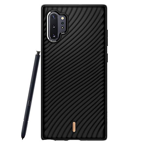 CYRILL Wave Shell Designed for Samsung Galaxy Note 10 Plus Case (2019) - Black