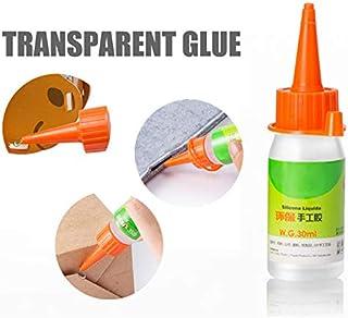 Keepbest - Pegamento líquido Adhesivo con Alcohol (30 ml) para Tela, papelería, Manualidades, álbumes de Recortes