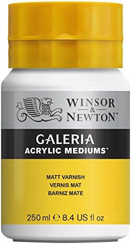 Winsor & Newton 3040802 Galeria Matter Firnis, 250 ml kruka, matt skyddsskikt på akrylbilder