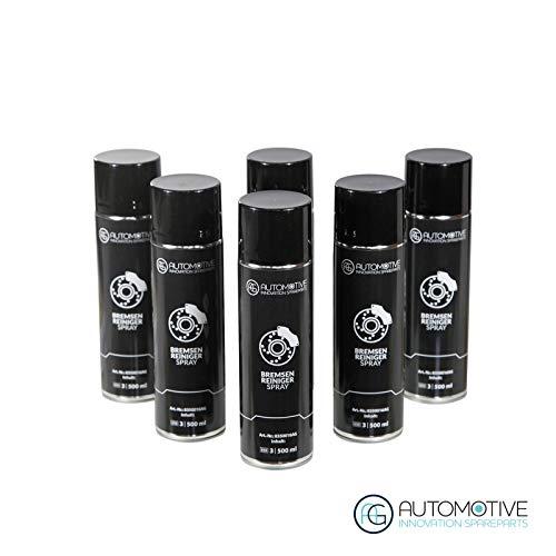 AG Automotive Bremsenreiniger Teilereiniger Intensiv Sprühdose Acetonfrei Spraydose 6x500ml