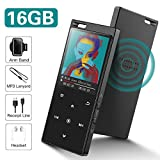 16GB SUPEREYE Reproductor MP3 Bluetooth 4.2 con Botón Táctil Reproductor de...