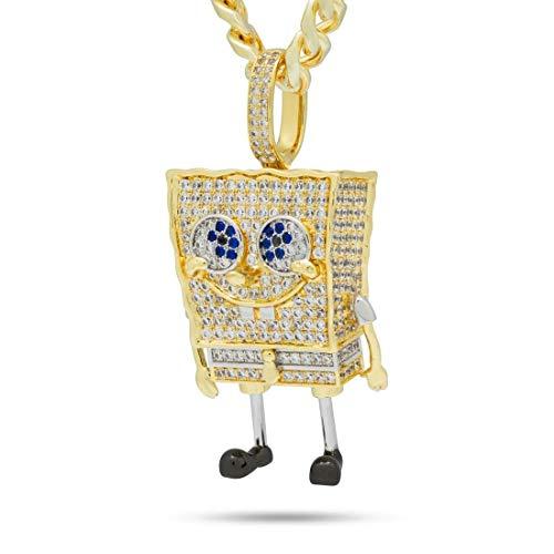 King Ice (キングアイス) ×SpongeBob SquarePants (スポンジ・ボブ) ネックレス ゴールド XL Spongebob (O/S (ワンサイズ)) [並行輸入品]