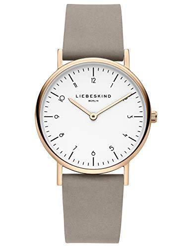 Liebeskind Berlin Damen Analog Quarz Uhr mit Leder Armband LT-0167-LQ