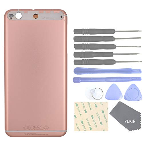 VEKIR Metal Back Battery Case+Power on/Off Button+Volume Button Replacement Compatible with HTC One X9(Pink)