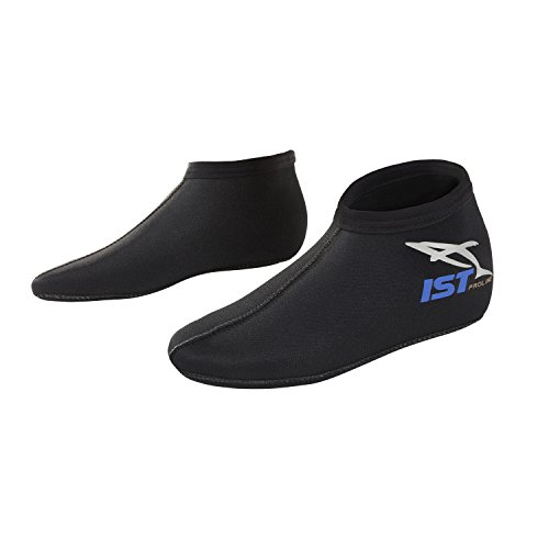 IST 3mm Neoprene Pull-On Kids Children s Youth Short Socks for All Water Sports Boot Booties Boots Swim Socks Swimming Swimmers, Small (Size 12-1)