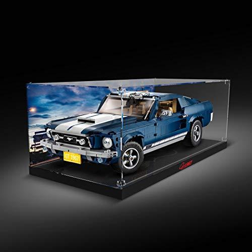 Giplar Acrylic Display Case Compatibile con Lego 10265 1967 Ford Mustang 390 GT, Acrilico Vetrina Scatola di Acrilico - A Prova di Polvere Teca (Non Incluso Modello)