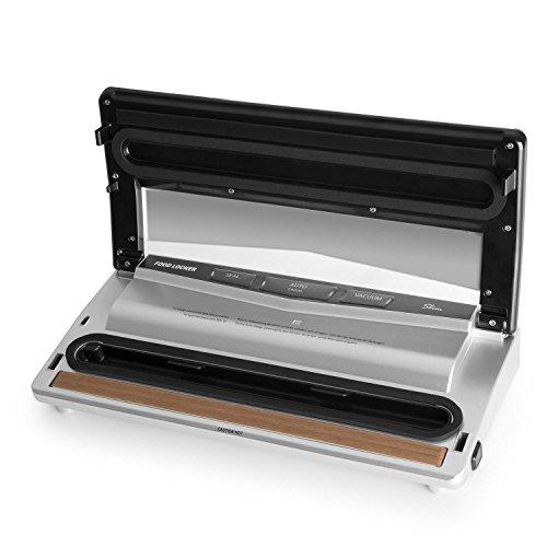 Klarstein Tastemaker Sous-vide Garer + FoodLocker Vakuumierer + Vakuumierfolien-Rolle Slim Set (6 Liter, 550 Watt Garer, 130 Watt Vakuumierer, -075 bar, 6 Meter Folienschlauch) silber - 9