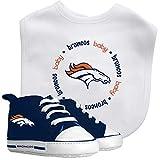 Baby Fanatic NFL Legacy Infant Gift Set, Denver Broncos, 2-Piece Set (Bib & Pre-Walkers)
